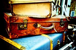 Suitcases on Brick Lane